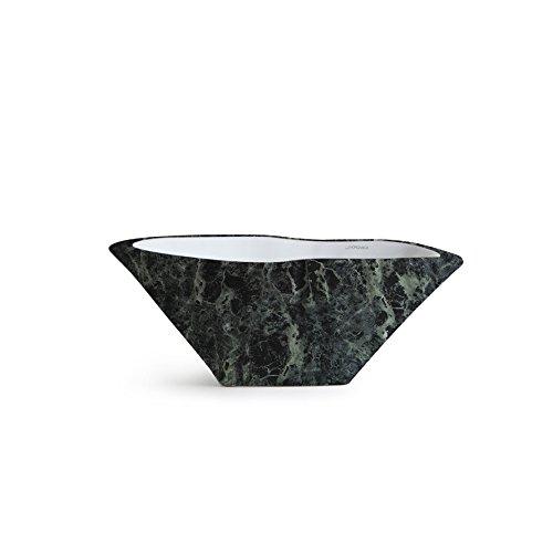 Vasque Lavabo à Poser/Suspendu Ovale Terra Vert Alpes en céramique - 54x46xh20 cm (avec bassin blanc)