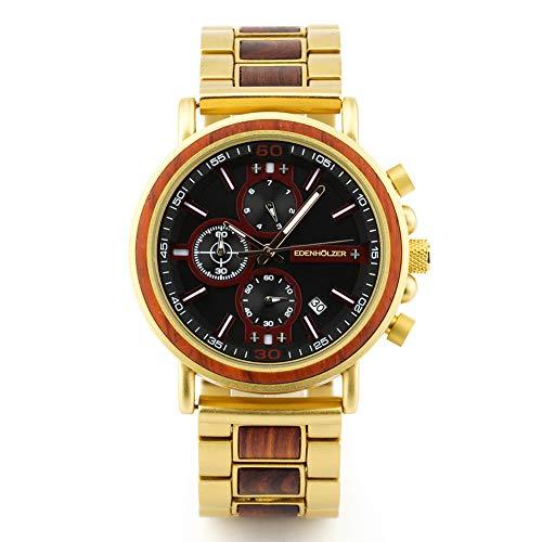 Reloj de pulsera de madera para hombre Boracay ED091-004