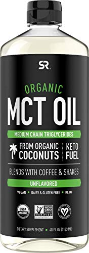 Organic MCT Oil derived from Coconut - 40oz   Great in Keto Coffee, Tea, Smoothies & Salad Dressings   Non-GMO Project Verified & Vegan Certified - Unflavored