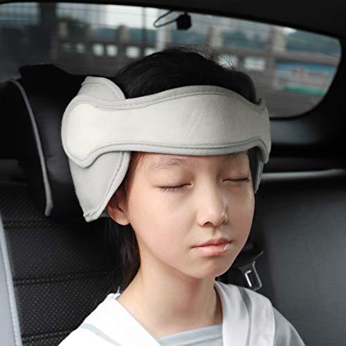 FREESOO Reposacabezas Soporte Cabeza Sujeta Cabezas Coche para Niños Infantil Bebe Seguridad Cinturón de Sujeción Correa Ajustable para Asiento de Coche Cómoda Posicionador Cabeza