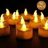 LED Kerzen,Sporgo 50 Stücke LED Flammenlose Kerzen,LED...