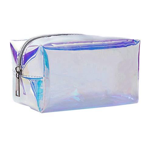 TENDYCOCO Kulturbeutel Holographic Cosmetic Bag Organizer Transparente Kosmetiktasche für Frauen