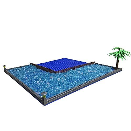 Macium Meerwasser Bauplatte für Lego 21310, Landschaft Grundplatte Custom Bausteine Platte Kompatibel mit Lego Alter Angelladen