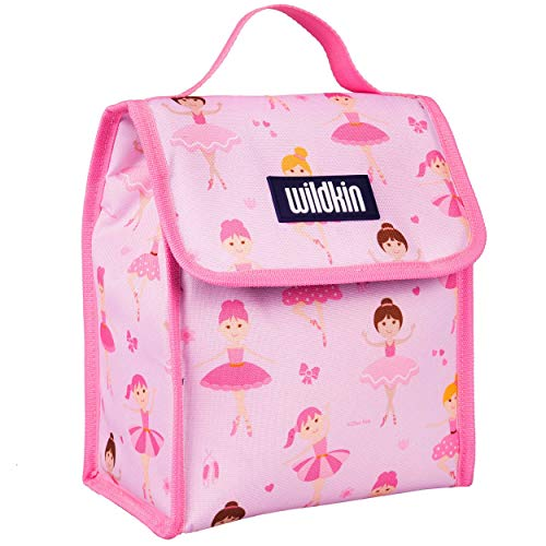 Wildkin Insulated Boys and Girls, Lunch Bags is Ideal Size for Packing Hot or Cold Snacks for School and Travel, Mom's Choice Award Winner, BPA-Free, Olive Kids (Ballerina), One