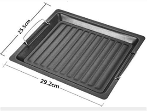 41LZE62ebTL - Bratpfanne Non-Stick Antihaft Gusseisen Griddle Pan Barbecue Plate Rechteckige Backformen Grillende Fach Grill Bratpfanne im Freien Grill Zubehör