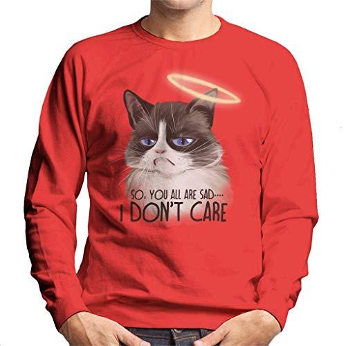 Cloud City 7 I Dont Care Cat Halo Men's Sweatshirt