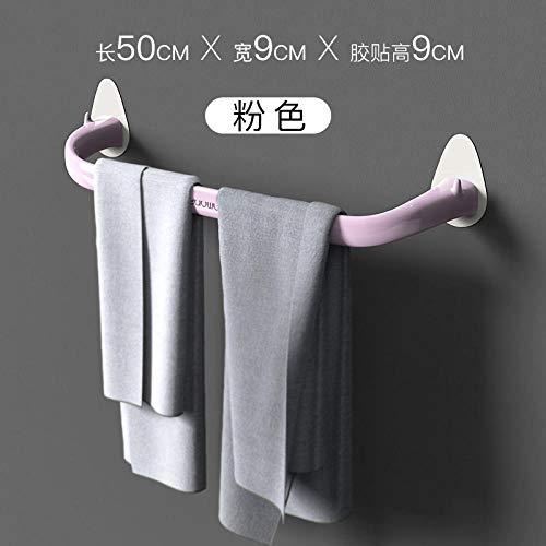 Bad Handtuchhalter Keine Spur Aufkleber Free Punch Handtuchhalter Kitchen Rag Hanging Rack Bad Verdicken Handtuchhalter Pink