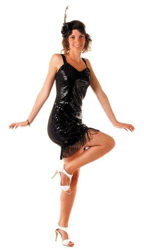 Party Pro 873239 Costume Charleston Noir Taille XXL