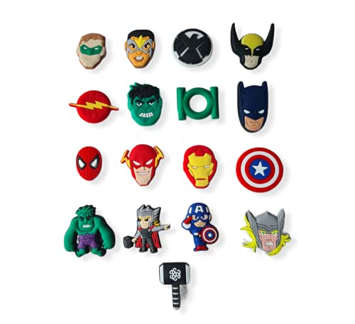 17 pezzi 2D eroe scarpe charms accessori L36