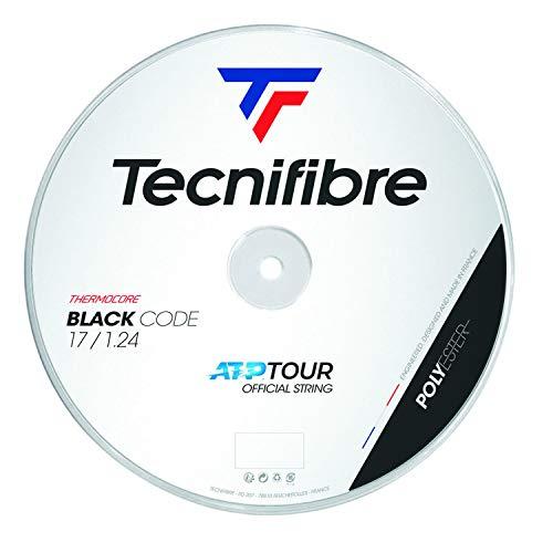 Tecnifibre Unisex– Erwachsene Rolle 200M Black Code 1.24 Tennissaiten, Schwarz, Einheitsgröße
