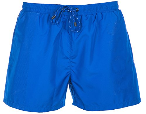 BOSS Herren Lizardfish Badeshorts, Blau (Bright Blue 435), Small