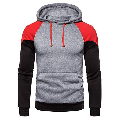 Sweatshirt Herren Hoodie Herren Casual Fashion Hoodie Herbst Neues Känguru-Tasche...