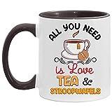N\A Todo lo Que Necesitas es Amor, té y Taza Decorativa de Stroopwafels.
