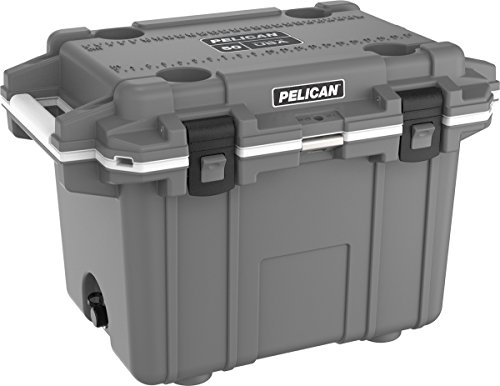 Pelican Elite 50 Quart Cooler (Dark Grey/White)
