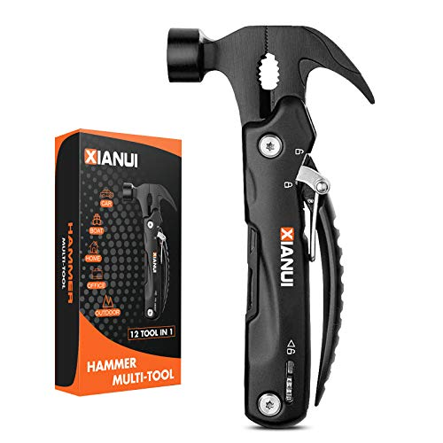 Gifts for Men Dad, Camping Accessories Survival Gear, 12In1 Hammer Multitool, Fathers Day Gifts for Dad from Daughter Wife, Unique Cool Gadgets Stocking Stuffers for Men Husband Boyfriend Him