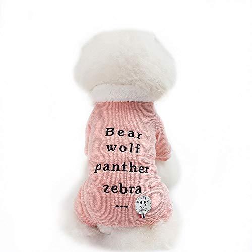 TLLW Disfraz de Navidad para perro, suter de perro, ropa de mascota, ropa de otoo e invierno de cuatro patas, de algodn, disfraz divertido para perro