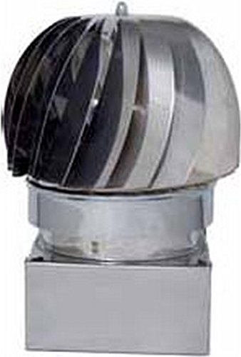 Europrofil Fumaiolo Comignolo Girevole Eolico attacco Quadrato 42x42cm ZN420X420