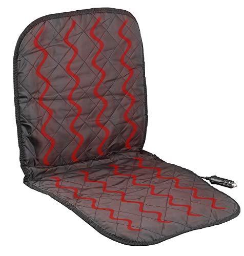 Lescars Beheizbarer Sitzbezug: Beheizbare Universal-Kfz-Sitzauflage für den 12-Volt-Anschluss (Auto Heizkissen)