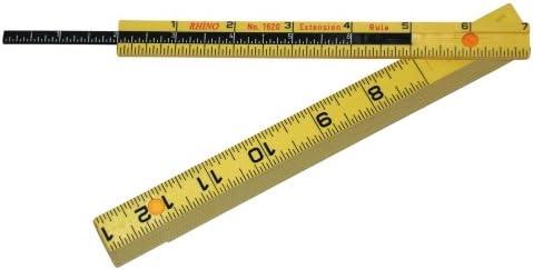 Rhino 55160 6' Length Folding Carpenter's Ruler