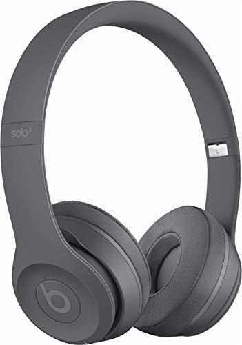 Beats Solo3 Wireless On-Ear Headphones - Neighborhood Collection - Asphalt Gray (Renewed)