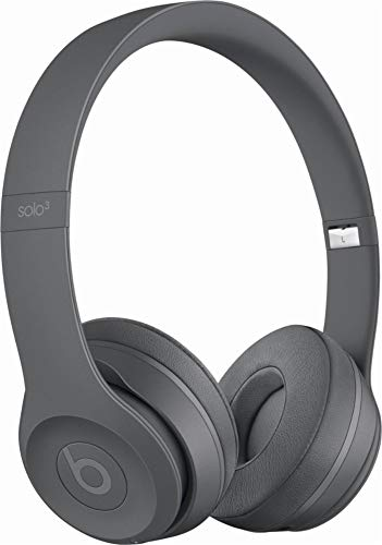 Beats Solo3 Wireless On-Ear Headphones - Neighborhood Collection - Asphalt Gray (Renewed)