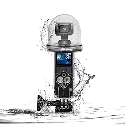 WSpring Waterproof Housing Case for DJI Osmo Pocket Accessories, 60M Underwater Diving Protective Housing Shell Accessories Kit from WSpring