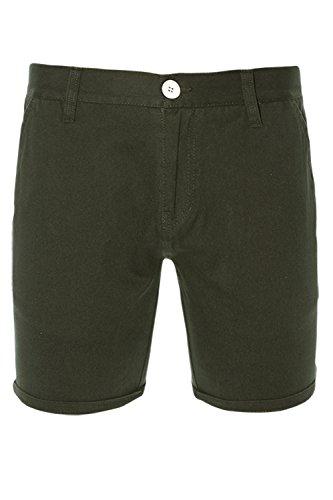 Brave Soul Herren Chino Short, Einfarbig Kurze Hose Shorts Gr. L - 34 W, Khaki - Grün (L)