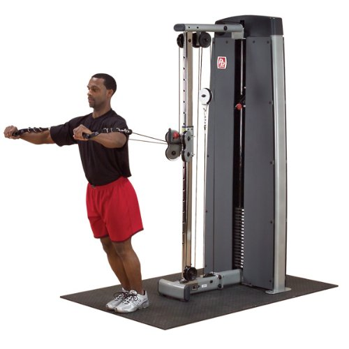 Lowest Prices! Body-Solid DPCC-SF Pro Clubline Pro Dual Adjustable Cable Column Machine, Exercise Machines for Home and Commercial Gyms