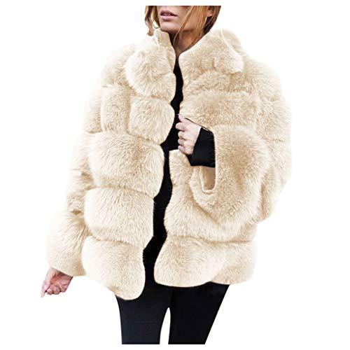 FRAUIT wollen jas dames winterjas oversize bont faux korte mantel warm parka verdikt gebreide jas mode streetwear zacht comfortabel pluche