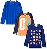 Spotted Zebra Boys' Kids Long-Sleeve T-Shirts, 3-Pack Football, Medium