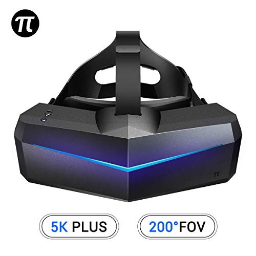 Pimax 5K Plus Virtuele realiteit headset met brede FOV van 200°, dubbele 2560x1440p RGB LCD-panelen, 120Hz en 6 DOF-tracking [Alleen voor VR-headset]