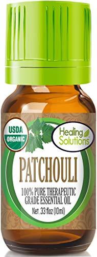 Organic Patchouli Essential Oil (100% Pure - USDA Certified Organic) Best Therapeutic Grade Essential Oil - 10ml
