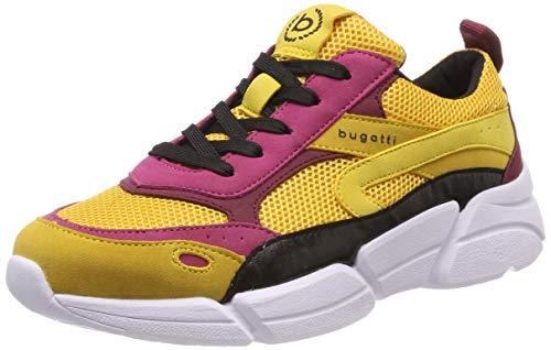 bugatti Damen 431668015959 Sneaker, Gelb (Yellow/Multicolour 5081), 39 EU
