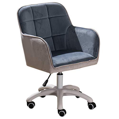 Bürostuhl Schreibtischstuhl Drehstuhl Bürostuhl Ergonomischer Schreibtischstuhl Samt, Drehstuhl Modern Lifting Adjust, Computerstuhl Rollstuhl Lendenwirbelstütze 360 Grad Drehbar, Wohn- / Büromöbe