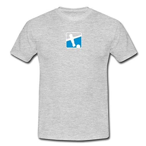Lehmacher/Löwen Keeper 2C Männer T-Shirt, 4XL, Grau meliert
