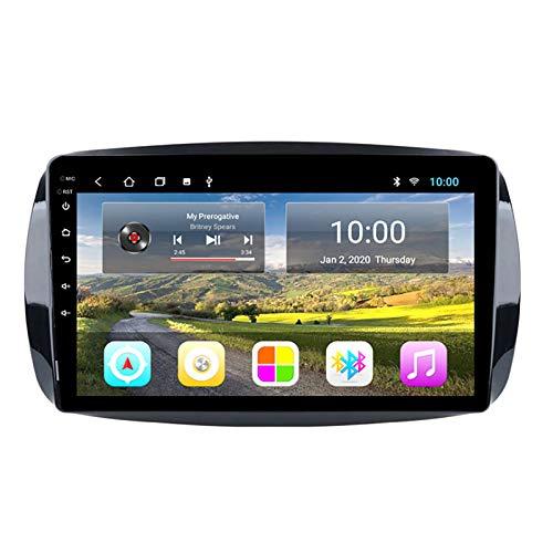YLCCC Coche Estéreo Sat Nave EDITO para Mercedes-Benz Smart 2016-2018 Vehículo estéreo de automóvil GPS Touch Touch HD Carplay WiFi Sistema de Radio Incorporado,4Core 4G+WiFi:2+32G