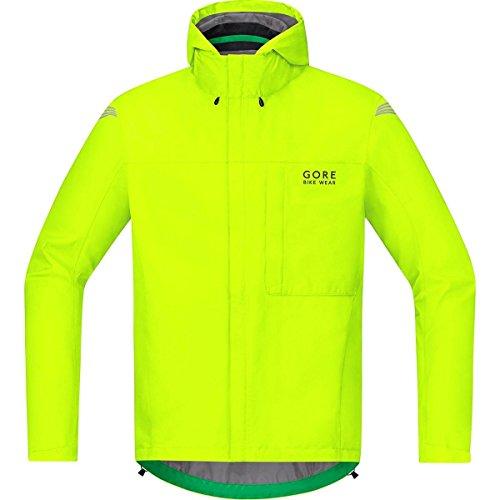 GORE BIKE WEAR Men's Cycling Rain Jacket, Light, GORE-TEX, GT Paclite Jacket, Size XL, Neon Yellow, JGPMEL