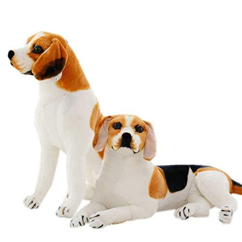 Ylone Gigante Tamaño Grande Perro Beagle Juguete Realista Animales de Peluche Perro Juguetes de Peluche de Regalo para Los Niños Decoración para El Hogar Mascota 30 CM