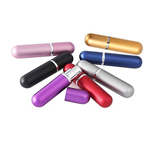 7 Pezzi Atomizzatore di Profumo Bottiglia Spray Riempibile Viaggio Vuoto Set con,Bottiglie Atomizzatore di Profumo, Mini Flacone di Profumo,5 Ml
