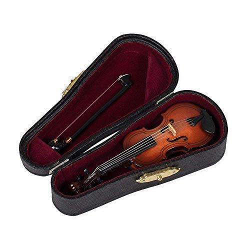 Geschenke Violine Musikinstrument Miniatur Replik mit Koffer, 10x3,5cm