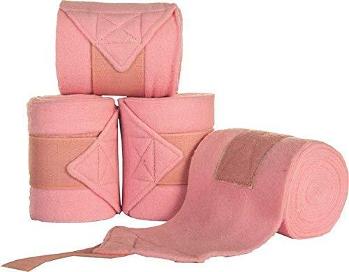 HKM Polarfleecebandagen, 4er Set, pink, 200 cm