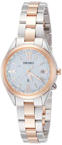 [セイコーウォッチ]腕時計ルキアソーラー電波ダイヤ入り白蝶貝文字盤チタンモデルSSQV040レディースシルバー