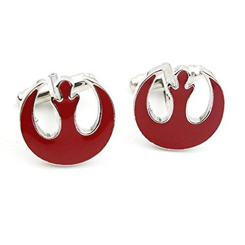 Star Wars Rebel Alliance Rouge Cosplay Cufflinks Boutons de Manchette