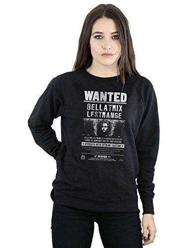 HARRY POTTER Mujer Bellatrix Lestrange Wanted Camisa De Entrenamiento Medium Negro