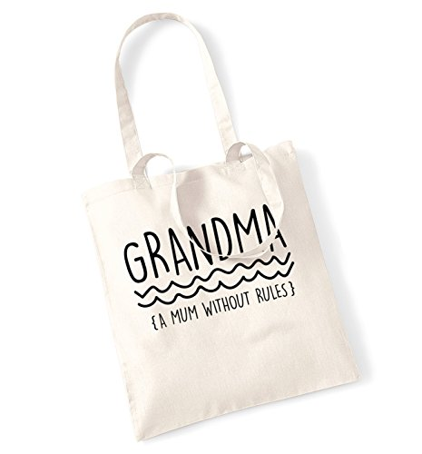 Grandma a mum without rules tote bag