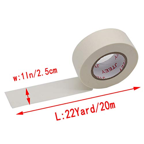 White Masking Tape 1 inch,6 Pack General Purpose Beige Painter's Tape Bulk for Painting, Labeling, Packing, Craft, Art,Home, Office, School (6 Pack,22yard per roll) Photo #4