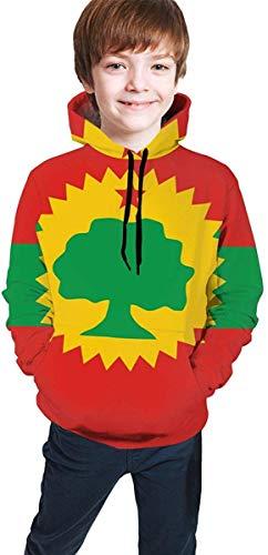 HNJZ-GS Flagge der Oromo-Befreiungsfront Kinder Jungen Mädchen 3D-Druck Kapuzenpulli Cute Pullover