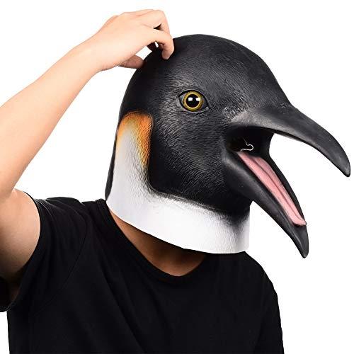 Finalshows Pingüino Látex Máscara Fiestas, Ave Animal Jefe Costume pour Déguisement Mascarade, Halloween, Kostüm, Party