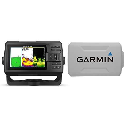Garmin Striker Vivid 5cv バンドル トランスデューサーと保護カバー付き 5インチ カラーフィッシュファイ...