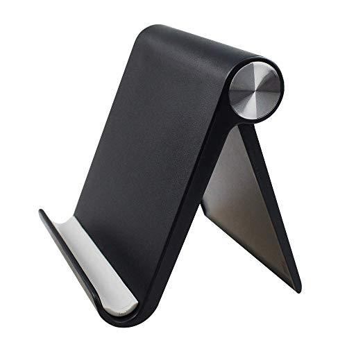 GORWRICH Mobiele Telefoon Houder, Desktop Mobiele Stand en Tablet Stand Houder met Verstelbare Hoek, Eén maat, Zwart